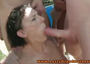 The blowbang action with a slutty housewife