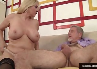 Slutty blonde needs a massive loaded dick