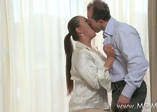 Angel with natural tits wants a boner