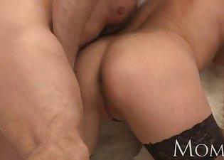 Glamorous MILF likes his big boner