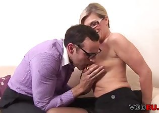 Sensual blonde fucked in the doggy style