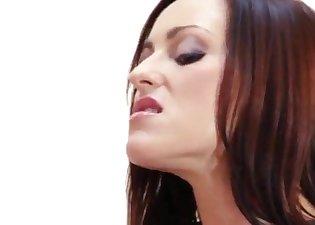 Great-looking brunette is enjoying anal sex