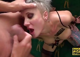 Slutty blonde fucked like a whore