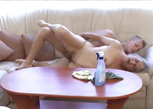 Chubby GILF penetrated by a young man