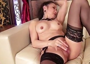 Busty brunette opens her sweet hole