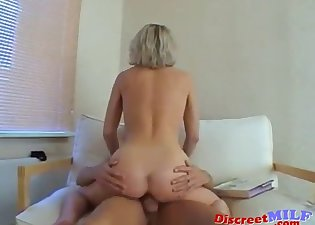Cheating lady fucks with a younger man